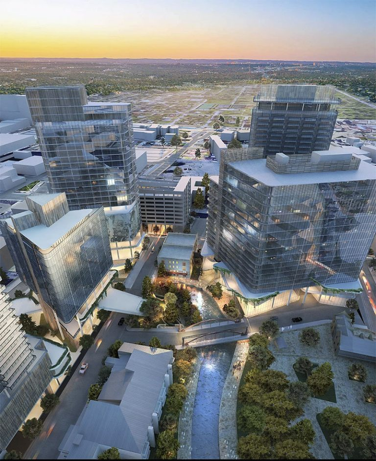 Riverplace is a planned $400 million mixed-use development in northwest downtown that would occupy both sides of the River Walk.