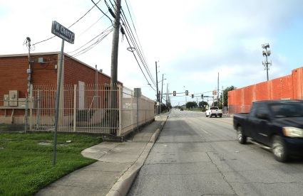 A 0.75-acre property at 1403 E. Houston St. (left) was recently purchased by Concentric Properties, and sits across North Cherry Street from the VelocityTX bioscience incubator.