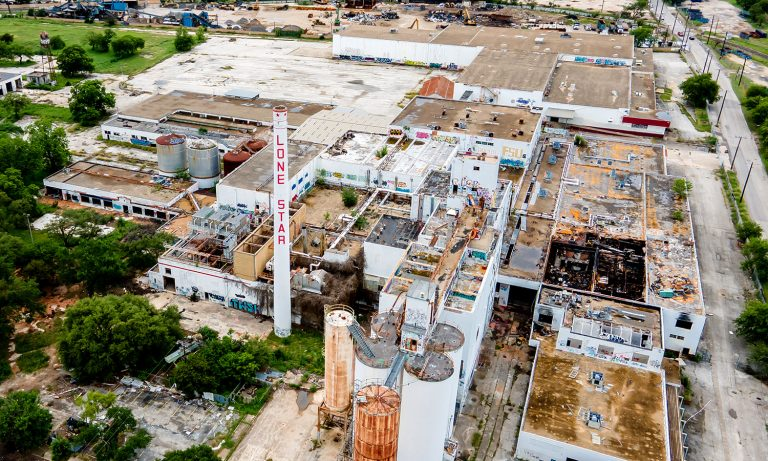 The former Lone Star Brewery is eyed for redevelopment by Midway and GrayStreet Partners.