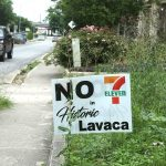 These signs can be seen up and down Florida and Carolina streets in the Lavaca neighborhood.