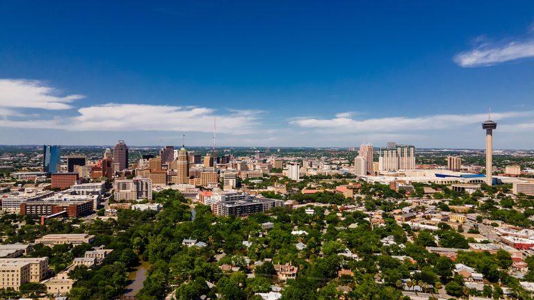 Skyline downtown San Antonio.