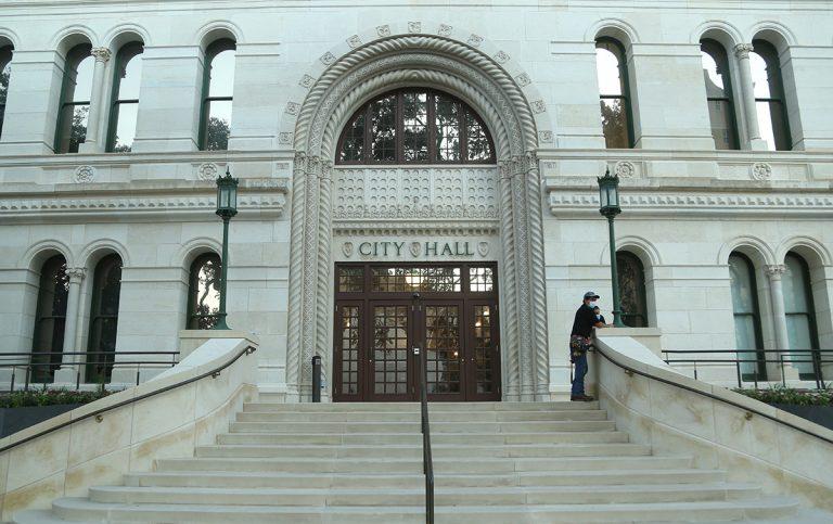 San Antonio City Hall stock photo.