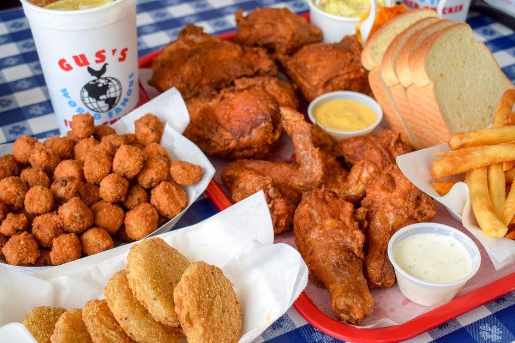 A sampling of menu items from Gus's Fried Chicken.