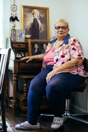 Lucille LeBlanc sits inside her Denver Heights home, which was recently renovated thanks to a city program.