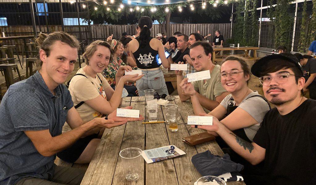 The team Brain Trust wins the Heron's second annual San Antonio Trivia Night on June 17 at Dos Sirenos Brewery, 231 E. Cevallos St.