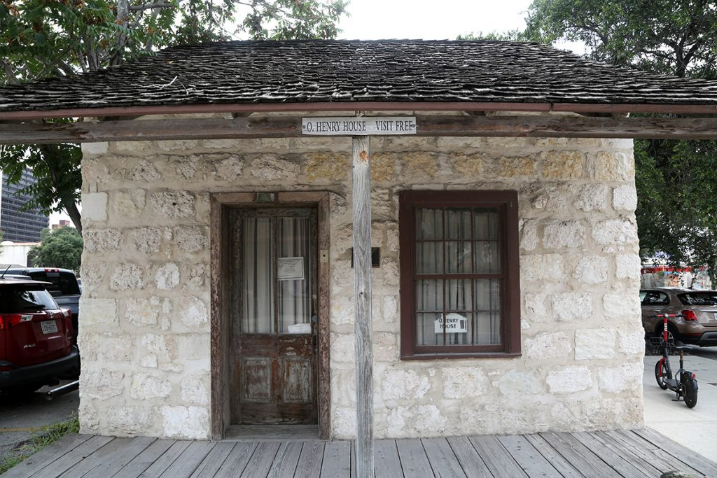 O'Henry House on the corner of South Laredo and Dolorosa streets.