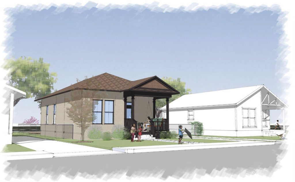 An affordable home to be built using the rammed earth technique is planned for the south lot at San Salvador Avenue and Denver Boulevard on the far East Side of San Antonio.