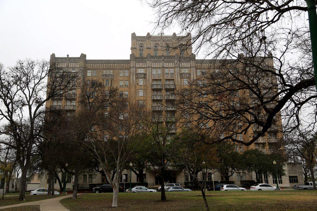 The Aurora Apartments, 509 Howard St., may soon undergo a renovation. Feb. 10, 2021.