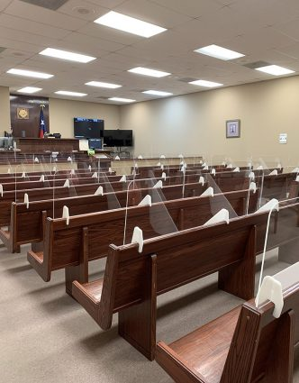 Eviction court at Justice of the Peace Precinct 4 on Aug. 25, 2021.