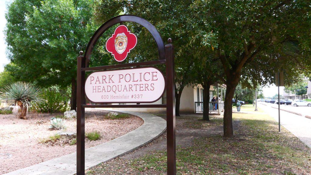 San Antonio Park Police headquarters is located at 600 Hemisfair, Building 337, at Hemisfair in downtown San Antonio, Texas.
