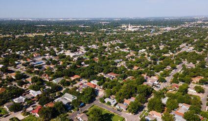 West Side San Antonio drone shot.