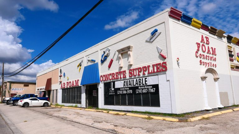 This warehouse at 1606 N. Colorado St., which appears to house a company called AB Foam Concrete Supplies, has been purchased by David Adelman.